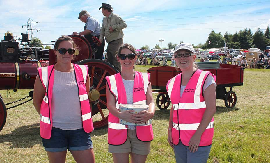 Charity Volunteers helping at Wrotham Hill Classic Car event
