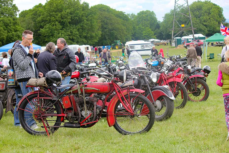Classic cars and motorbikes on display at Wrotham Classic Festival