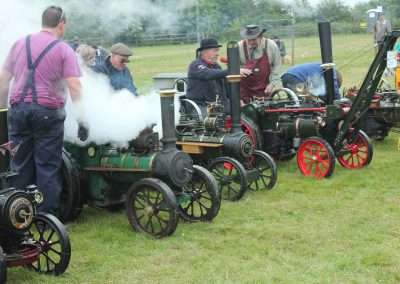 Presenting their steam engines in June 2015