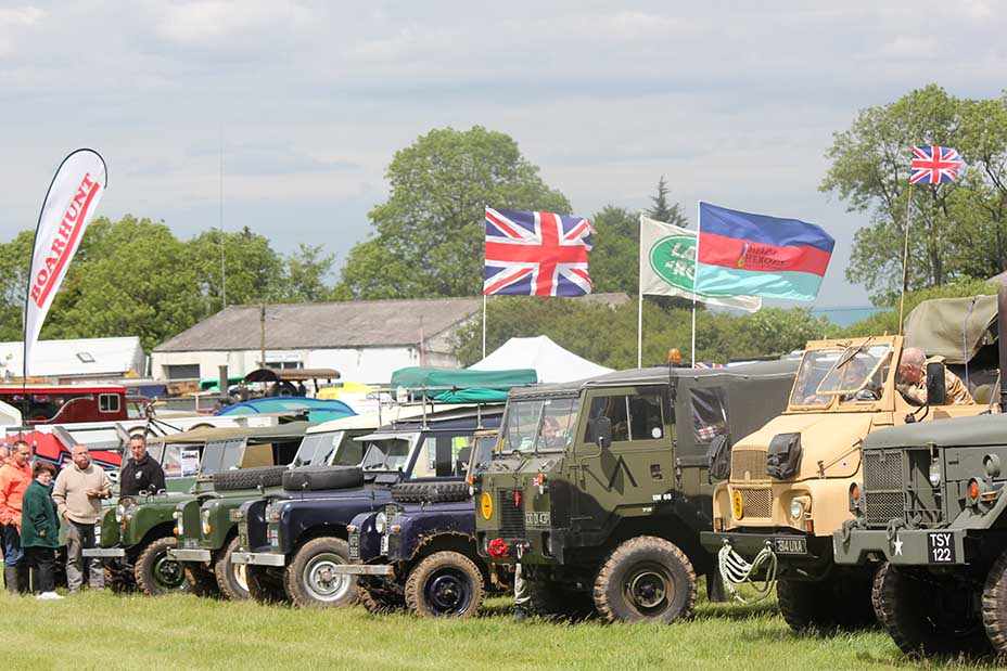 Military vehicles and many more types of classic engine being exhibited in Kent show