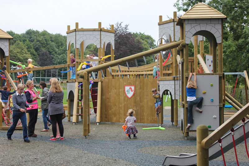 New play park in Wrotham funded by local charity efforts and classic car show