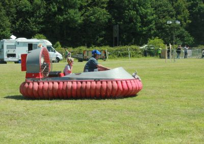 No wheels needed - a hovercraft during the show