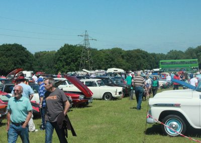 People enjoying the classic cars at Wrotham Classic Steam Rally