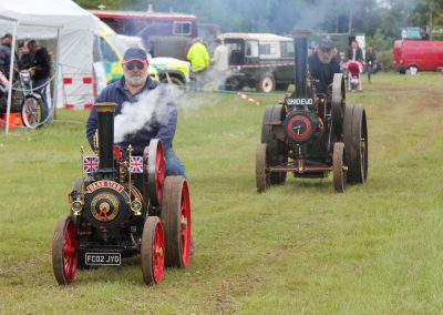 Steam Engines on display at the rally in 2012