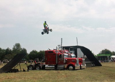 Taking flight - part of an excellent quad bike display