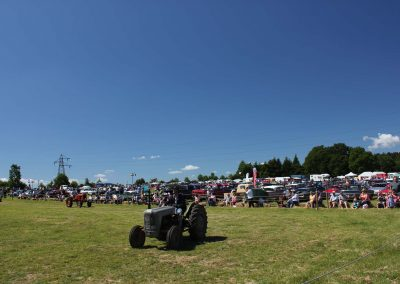 Tractors being exhibited in the sun