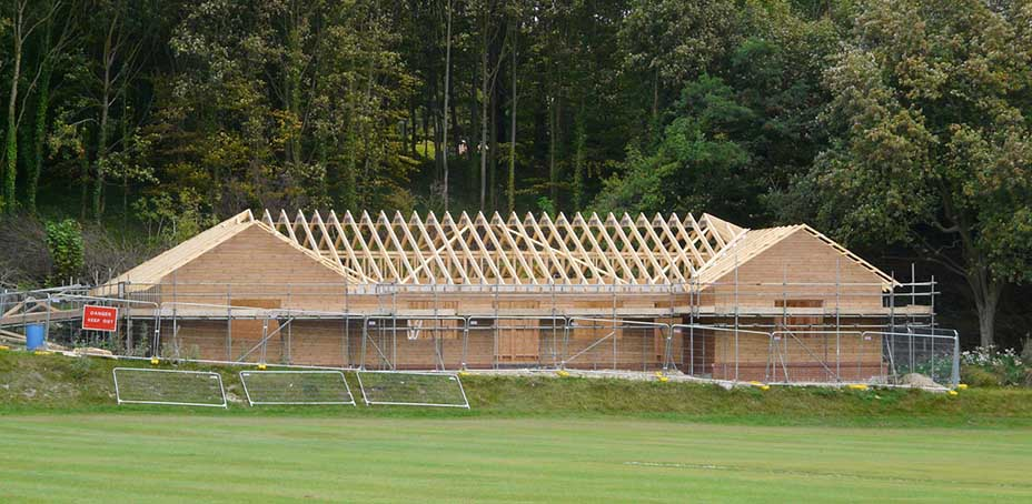 Wrotham Pavilion – in progress, with funding from Friends of Wrotham Rally
